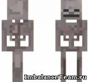 Скин скелета minecraft