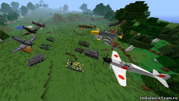 Minecraft мод Flans