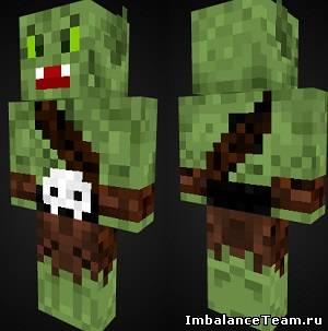 Скин орка для Minecraft