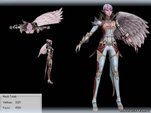 Lineage 2 Модель: Kamael Female 3D