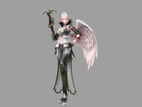 Lineage 2 Модель: Female Kamael