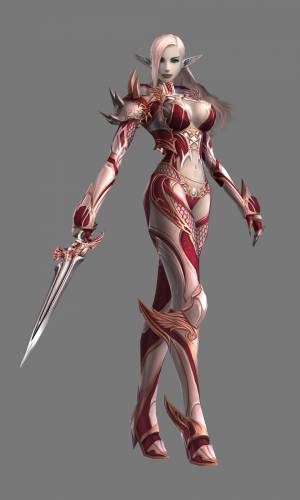 Lineage 2 Модель: Female Dark Elf