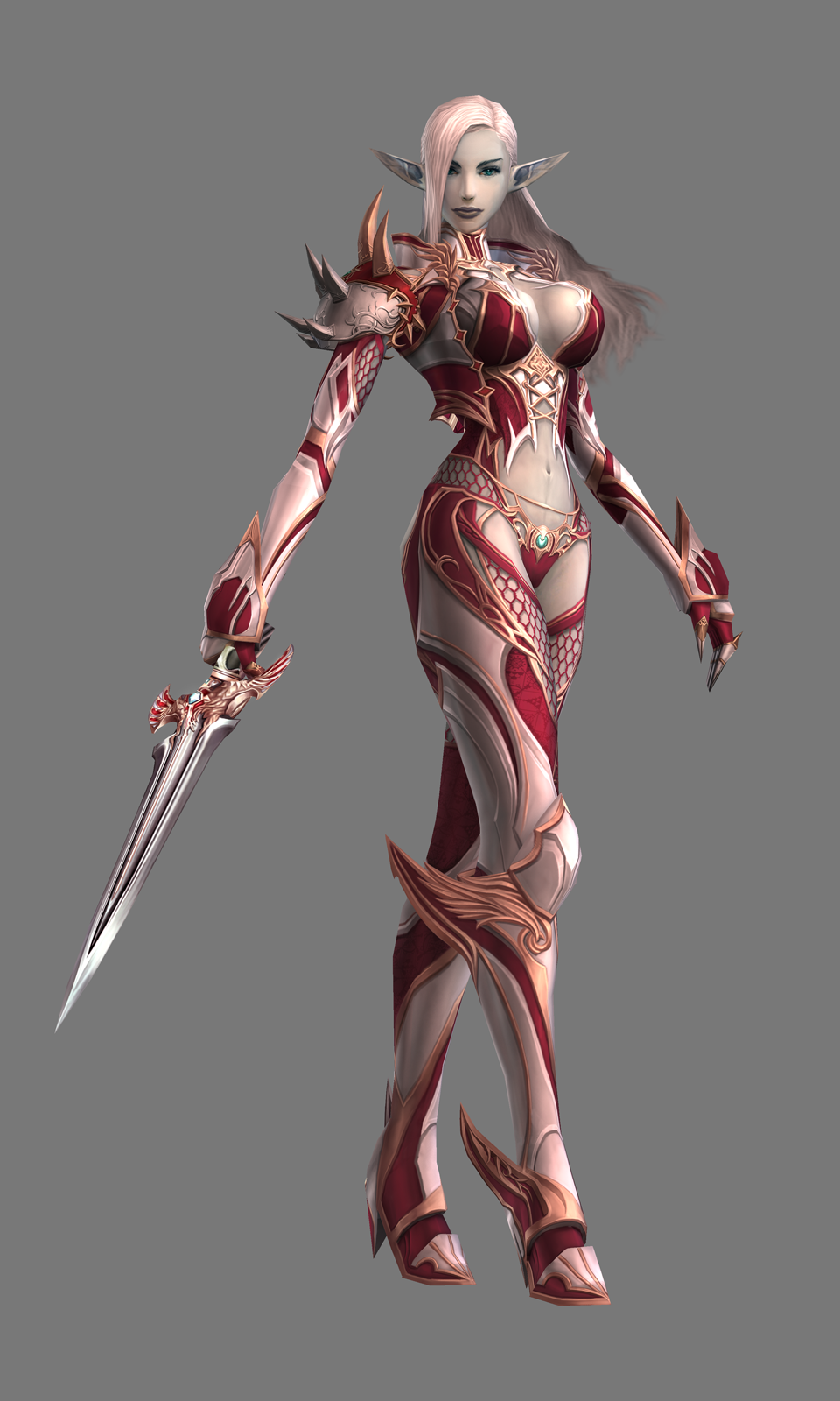 Nude lineage 2 characters in armors exposed scene
