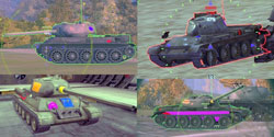 Зоны пробития World Of Tanks